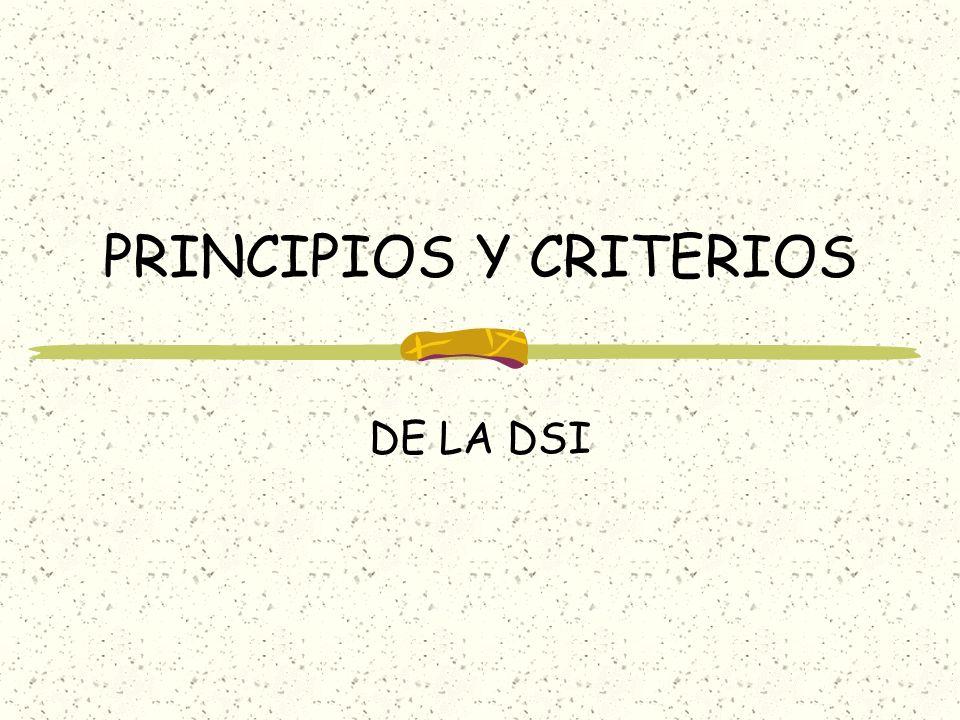 PRINCIPIOS Y CRITERIOS
