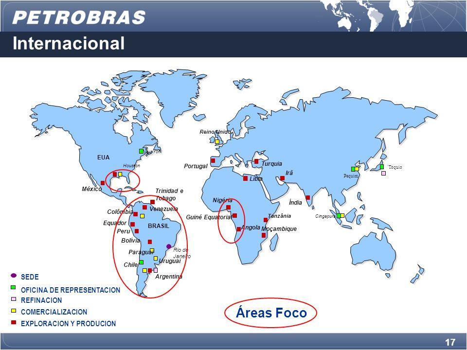 Internacional Áreas Foco SEDE OFICINA DE REPRESENTACION REFINACION