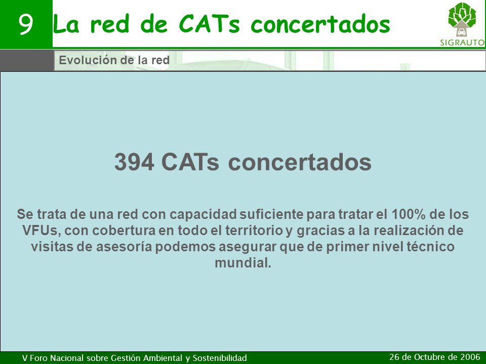 La red de CATs concertados