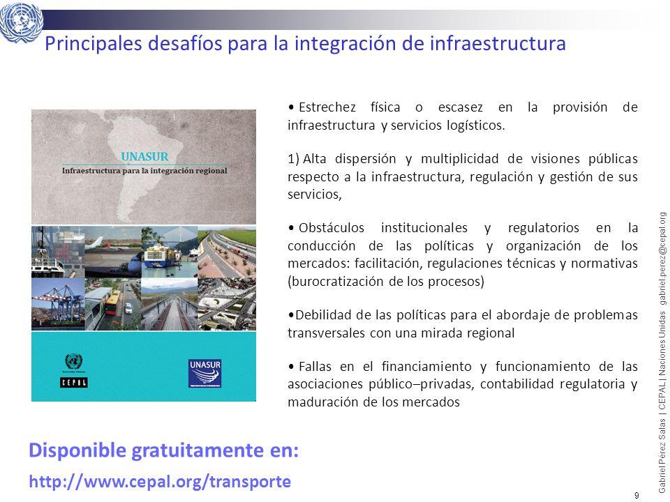 Principales desafíos para la integración de infraestructura