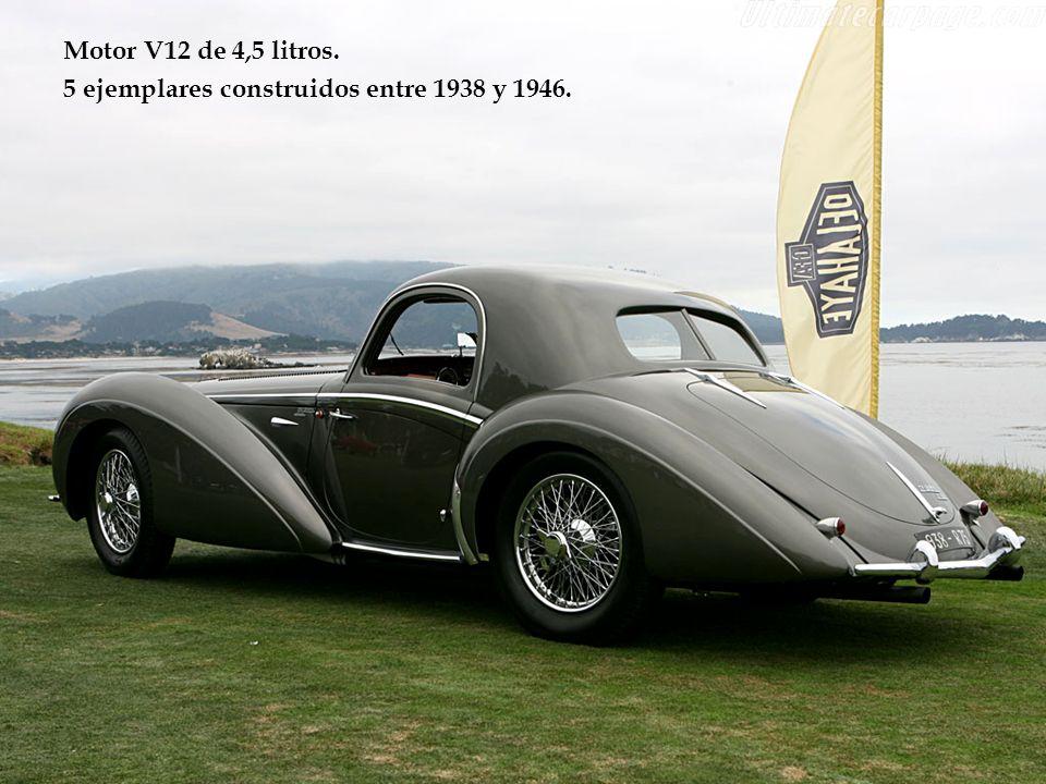 Motor V12 de 4,5 litros. 5 ejemplares construidos entre 1938 y 1946.