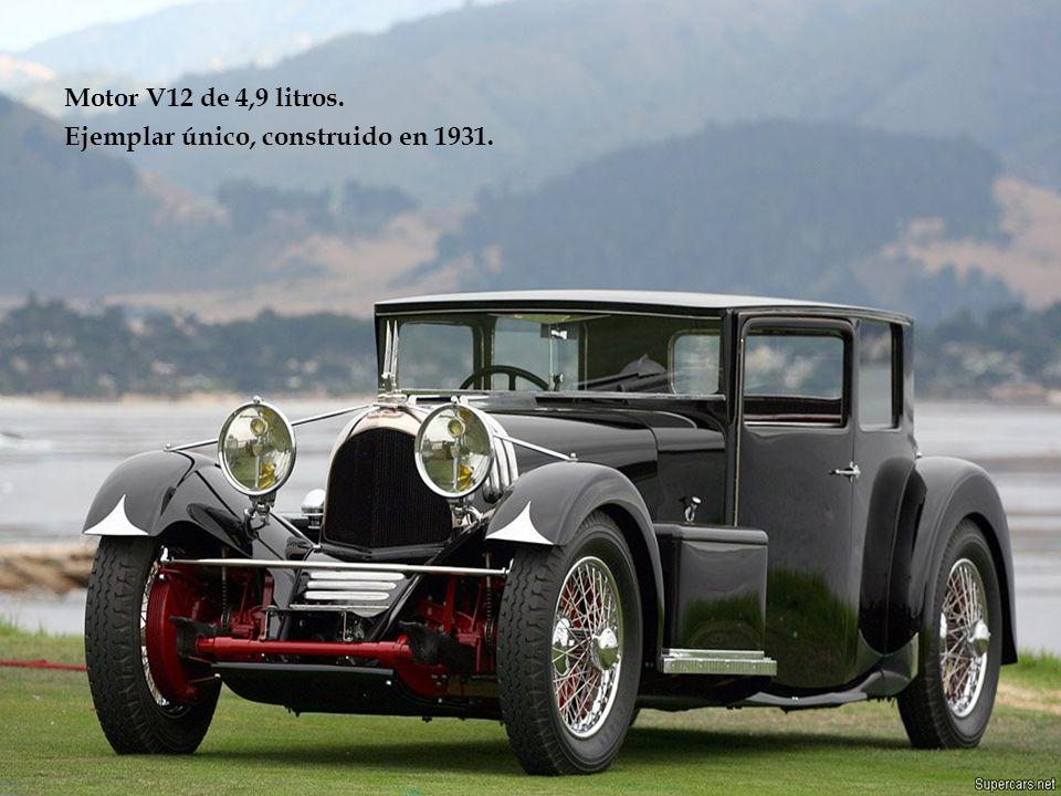 Motor V12 de 4,9 litros. Ejemplar único, construido en 1931.