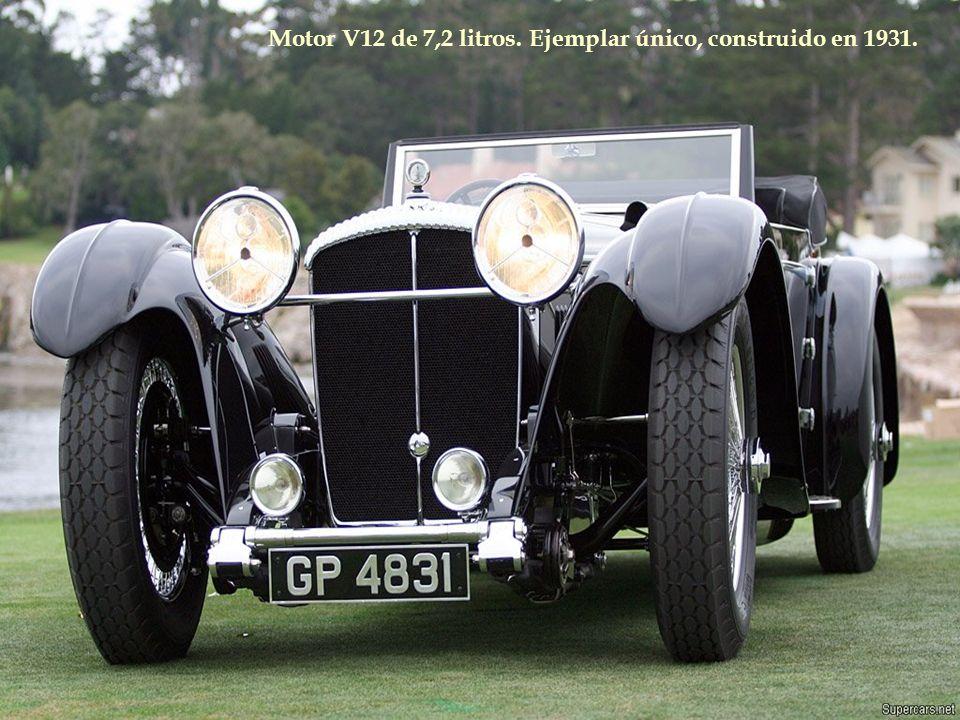 Motor V12 de 7,2 litros. Ejemplar único, construido en 1931.