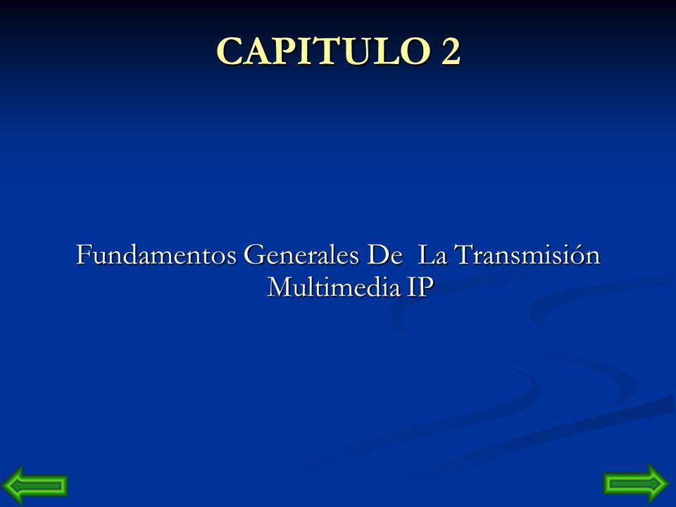 Fundamentos Generales De La Transmisión Multimedia IP