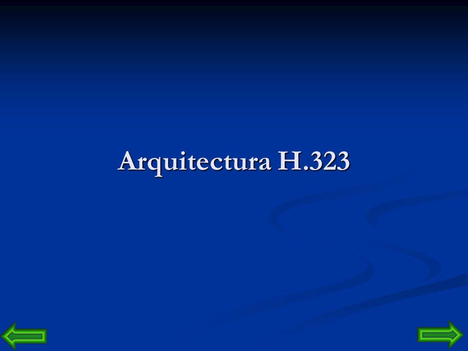 Arquitectura H.323 en otros casos son elementos software que pueden residir en la misma plataforma: