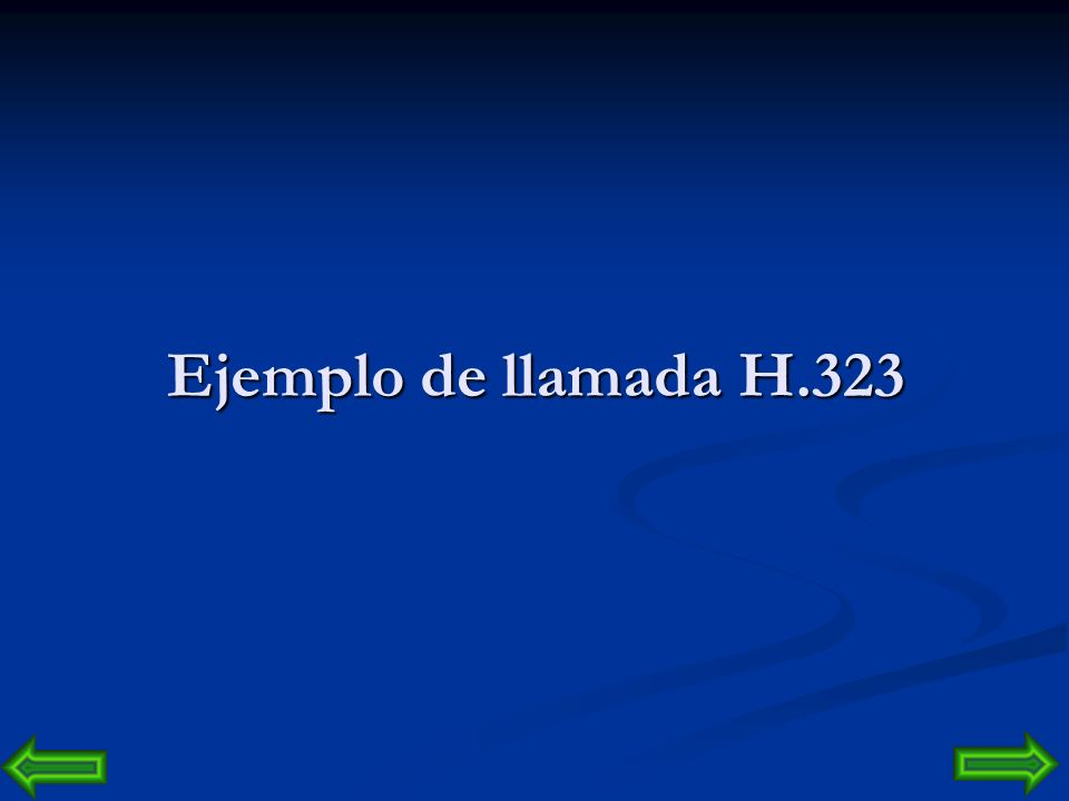 Ejemplo de llamada H.323 ARQ  CONTIENE EL REQUERIMIENTO DE EL ABONADO A O DEL LLAMADOR. ACF  CONTIENE EL DESTINO DEL ABONADO B O DEL LLAMADO.
