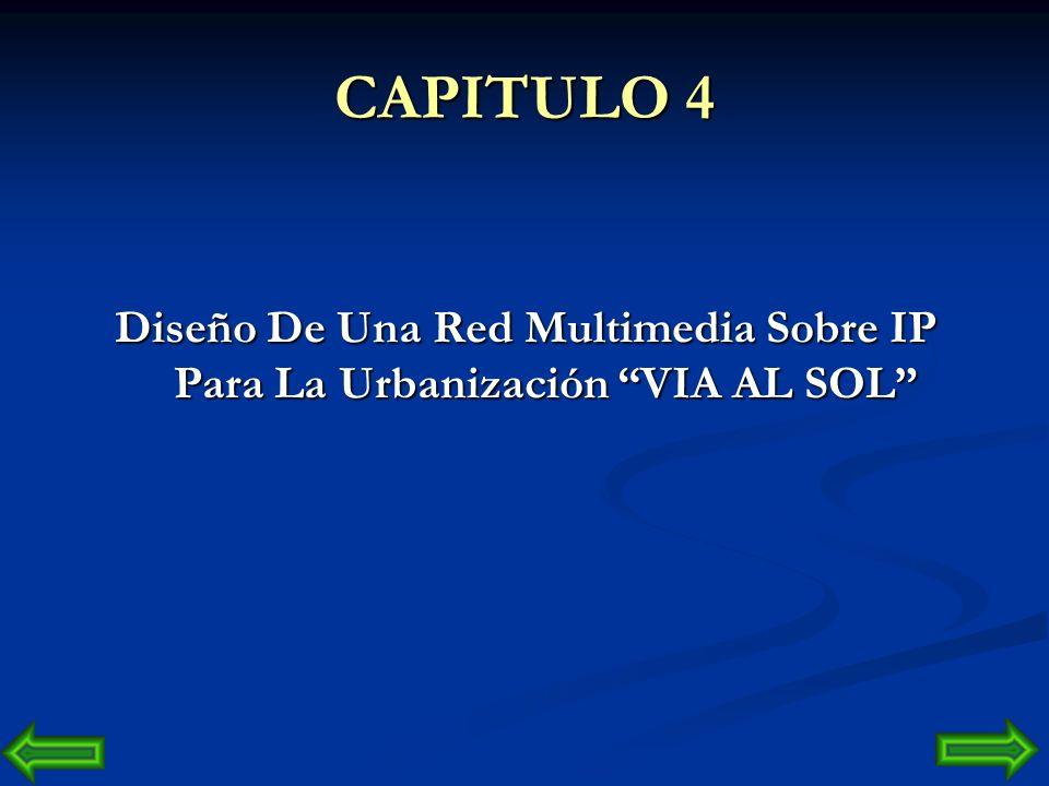 CAPITULO 4 Diseño De Una Red Multimedia Sobre IP Para La Urbanización VIA AL SOL