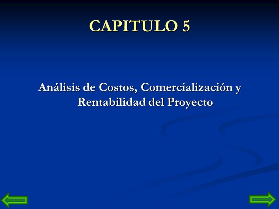 Análisis de Costos, Comercialización y Rentabilidad del Proyecto