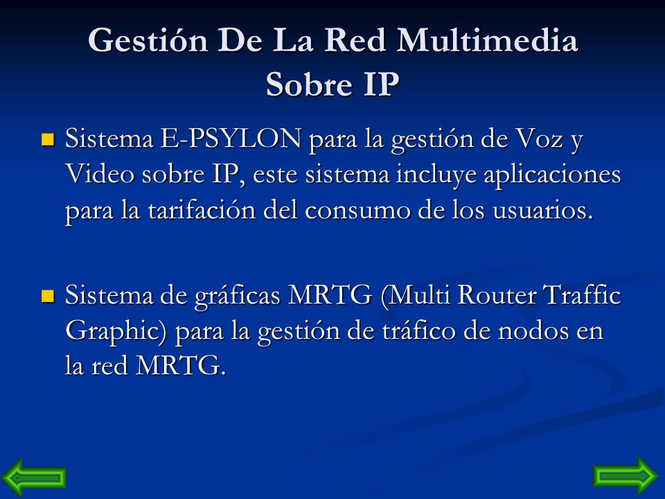 Gestión De La Red Multimedia Sobre IP