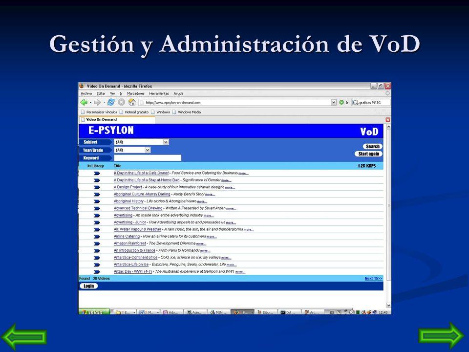 Gestión y Administración de VoD