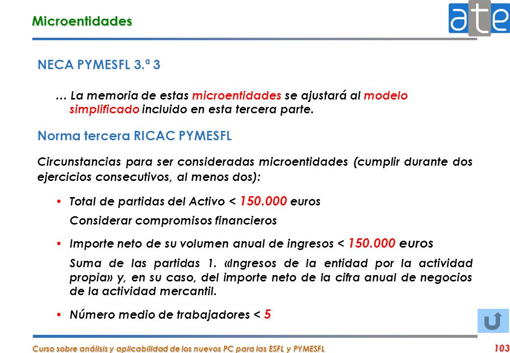 Norma tercera RICAC PYMESFL