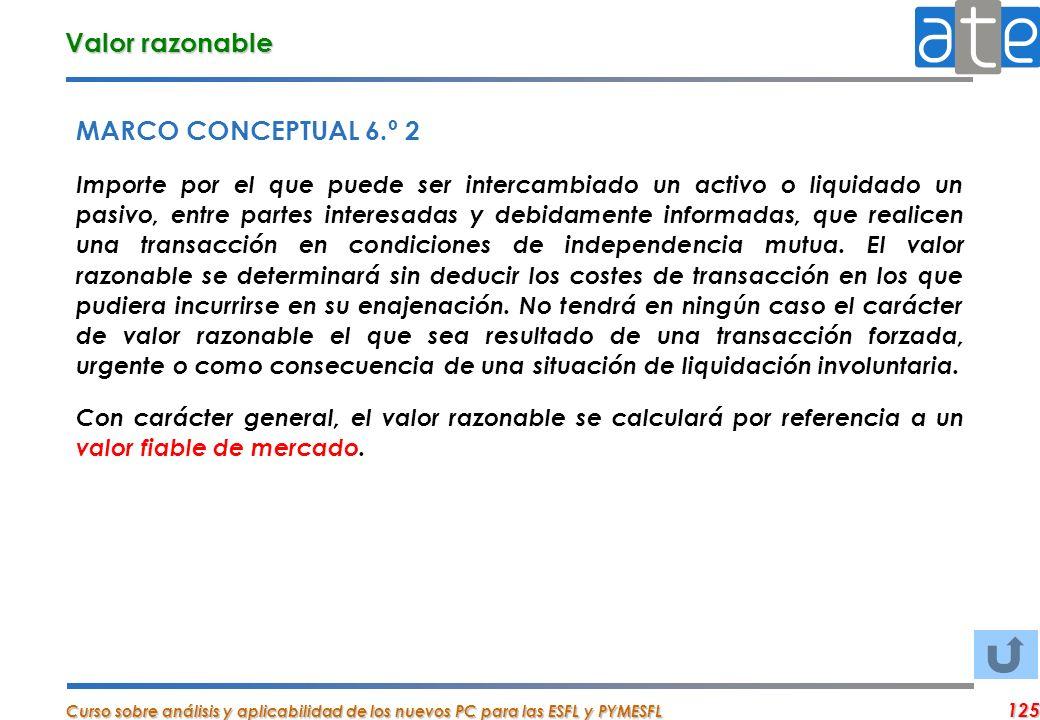 Valor razonable MARCO CONCEPTUAL 6.º 2