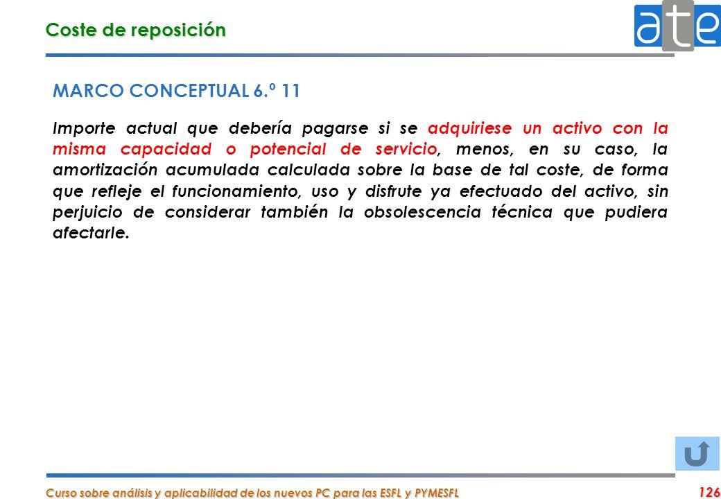 Coste de reposición MARCO CONCEPTUAL 6.º 11