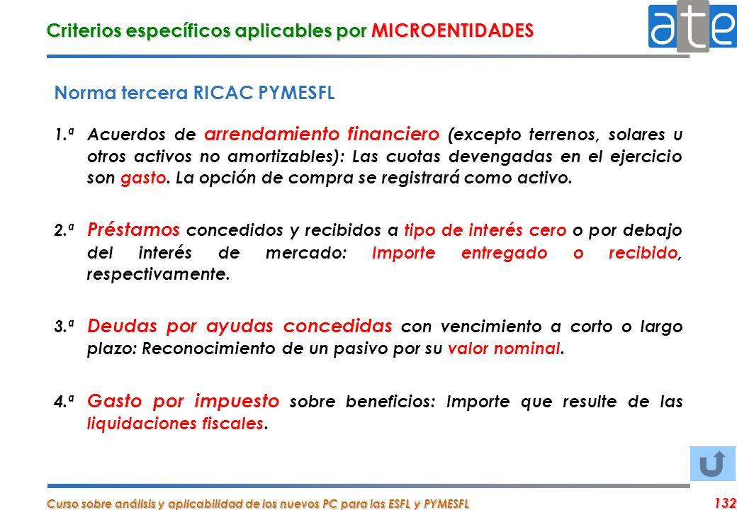Criterios específicos aplicables por MICROENTIDADES