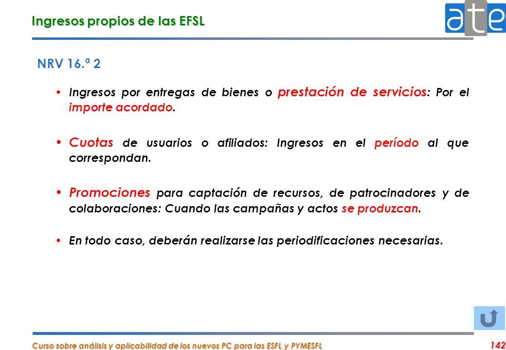 Ingresos propios de las EFSL
