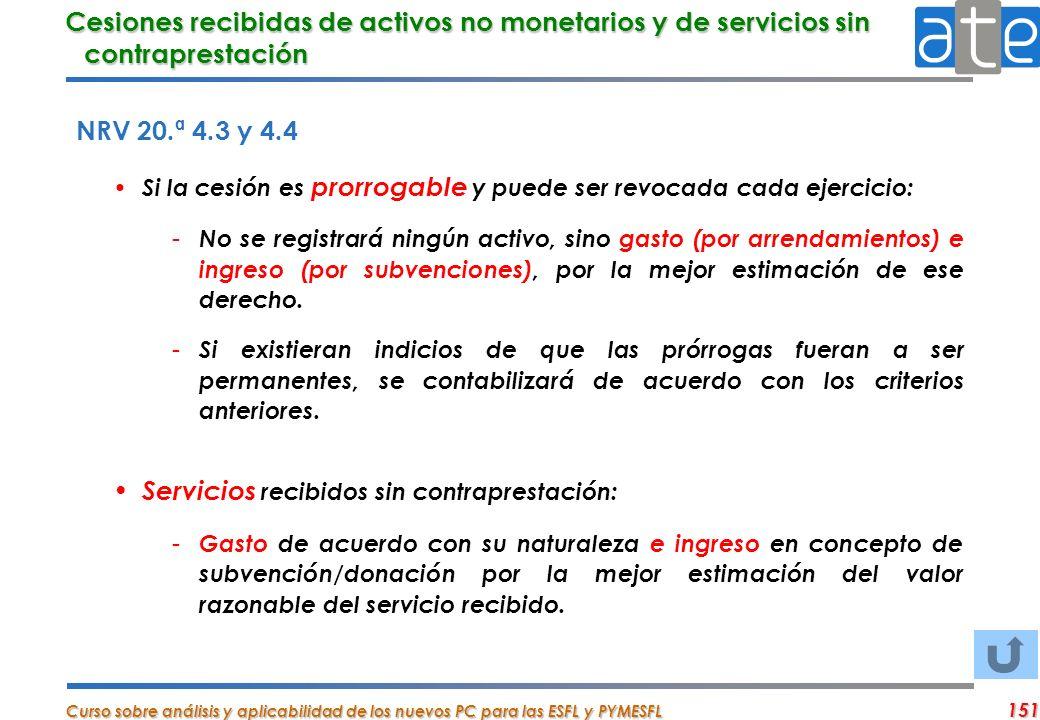 Servicios recibidos sin contraprestación: