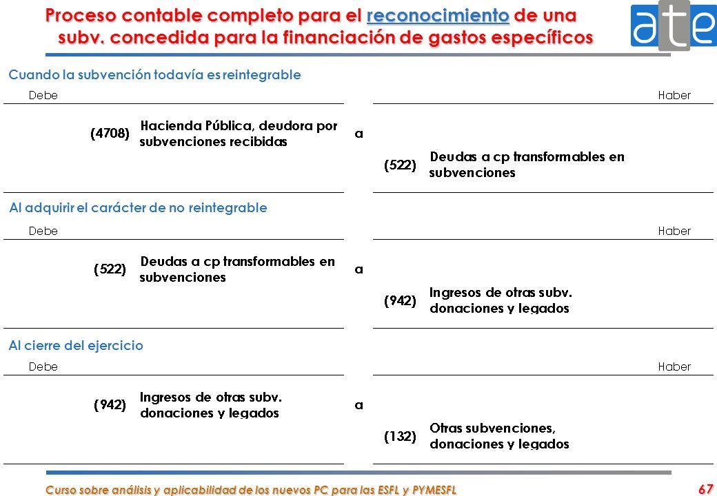 Proceso contable completo para el reconocimiento de una subv