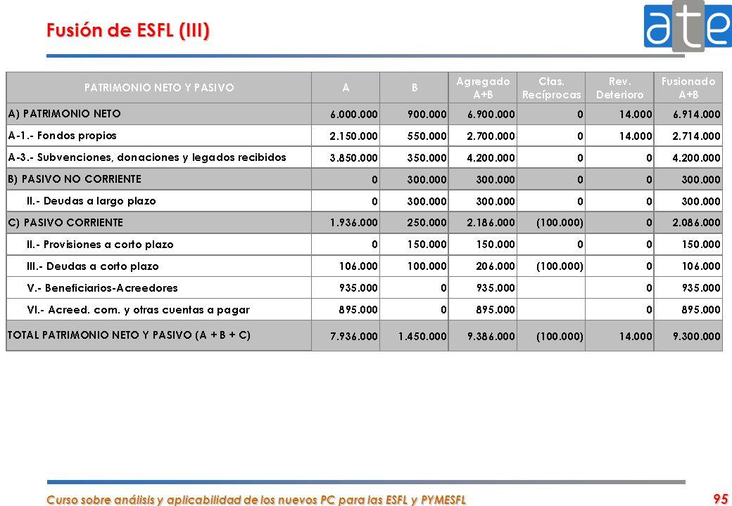 Fusión de ESFL (III)