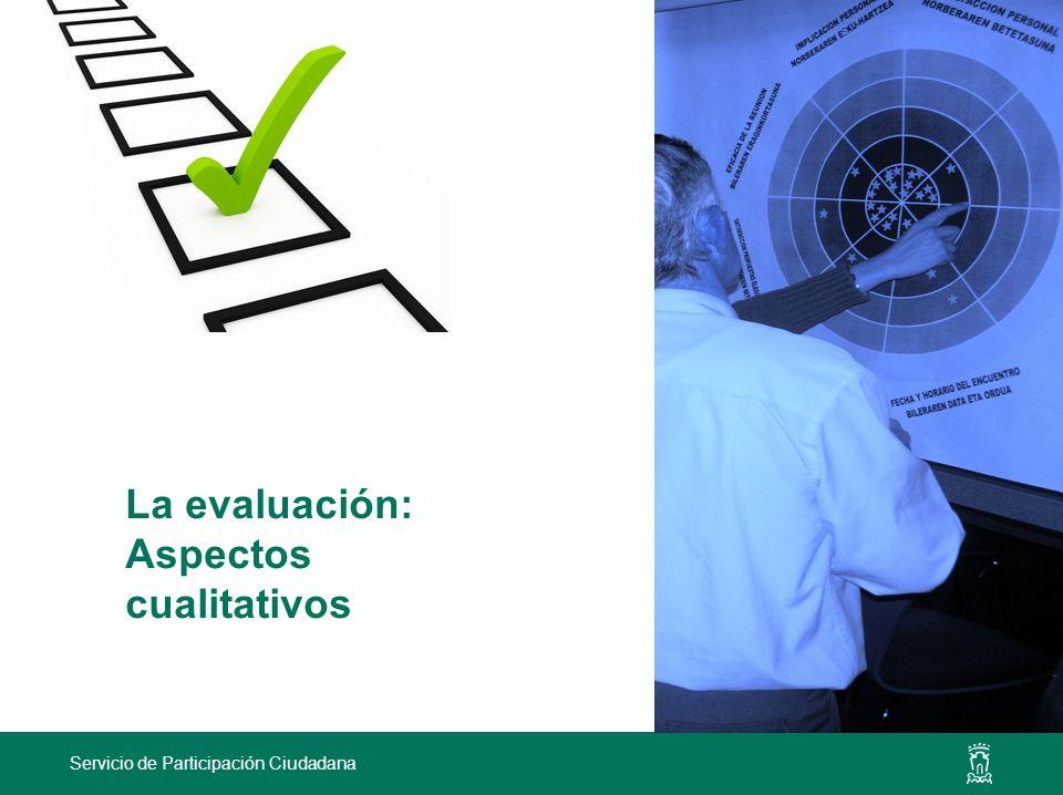 La evaluación: Aspectos cualitativos