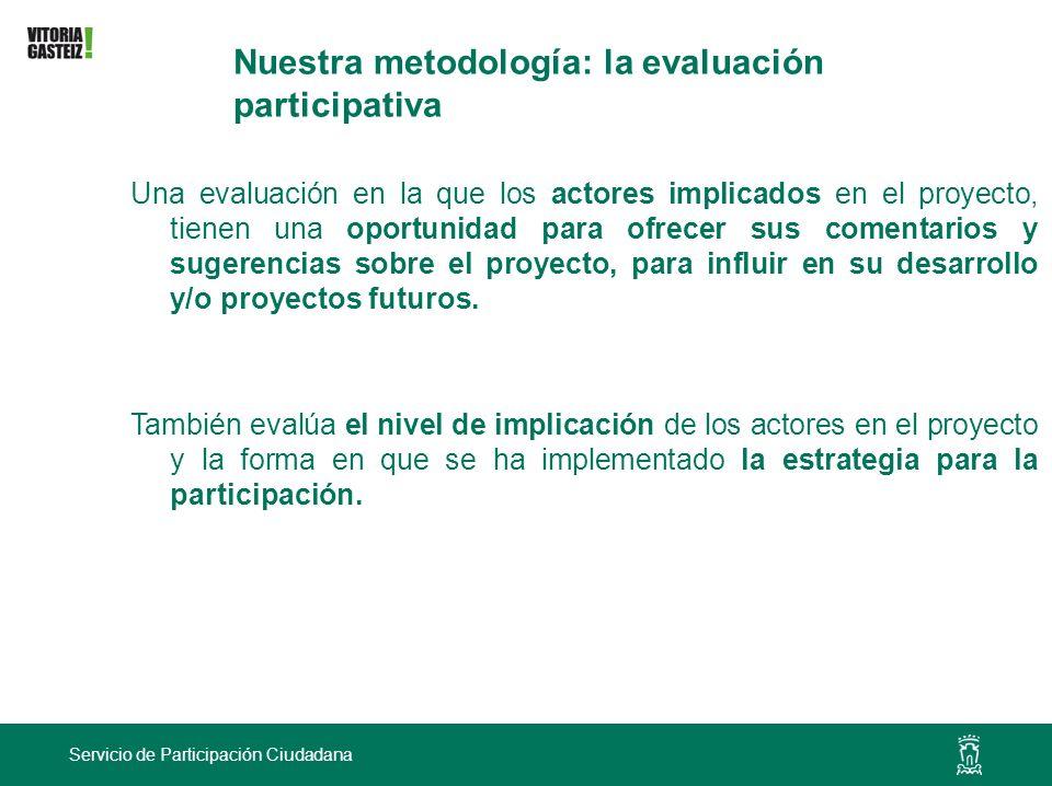 Nuestra metodología: la evaluación participativa