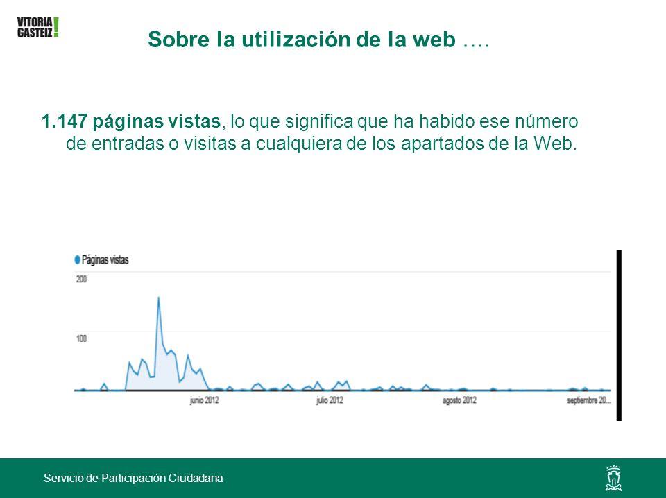 Sobre la utilización de la web ….