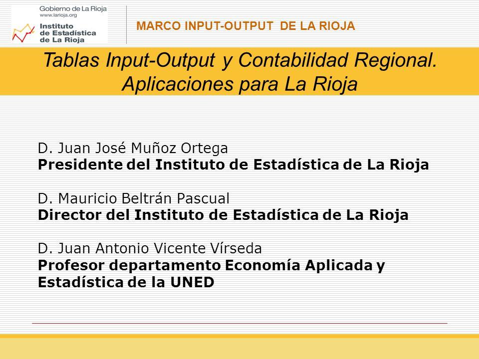Tablas Input-Output y Contabilidad Regional. Aplicaciones para La Rioja