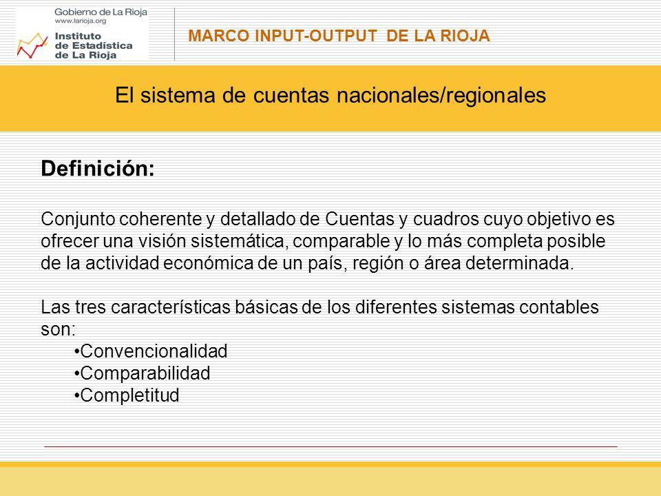 El sistema de cuentas nacionales/regionales