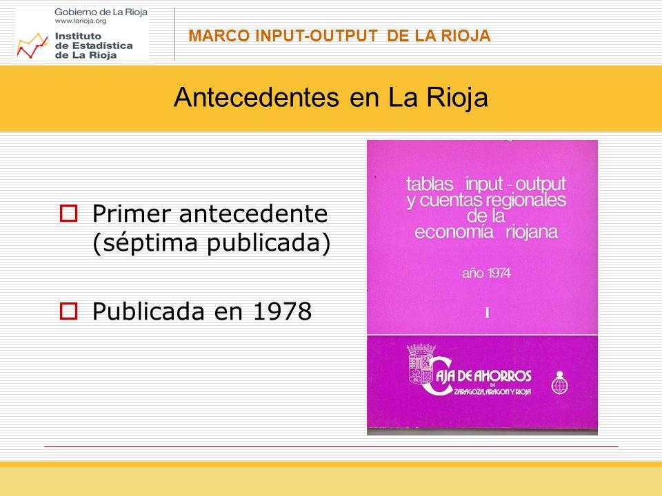 Antecedentes en La Rioja
