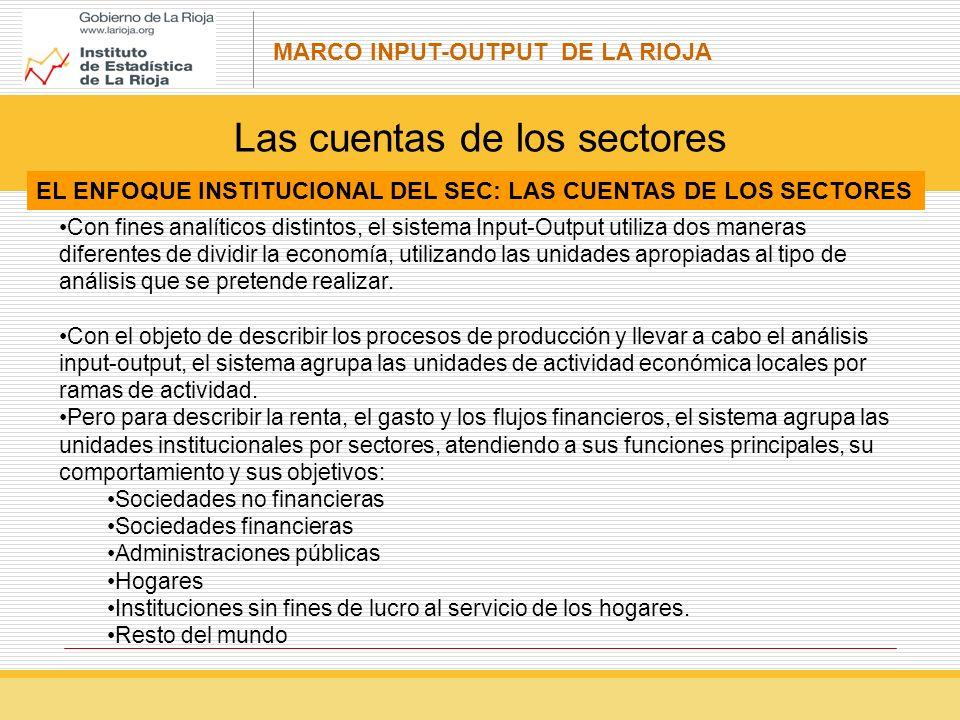 Las cuentas de los sectores