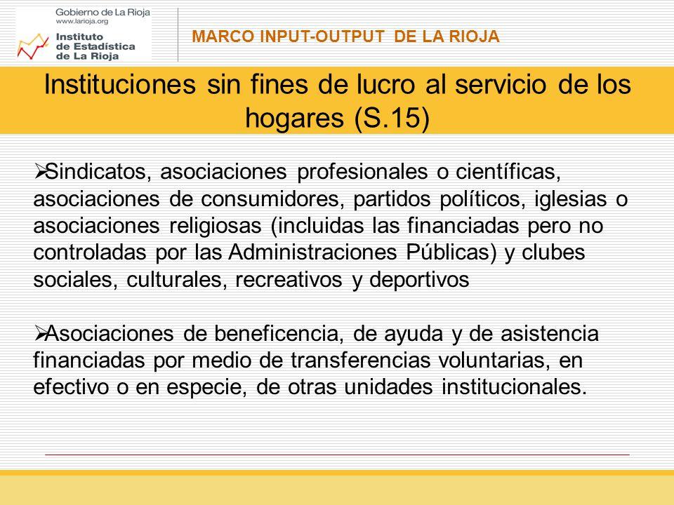 Instituciones sin fines de lucro al servicio de los hogares (S.15)