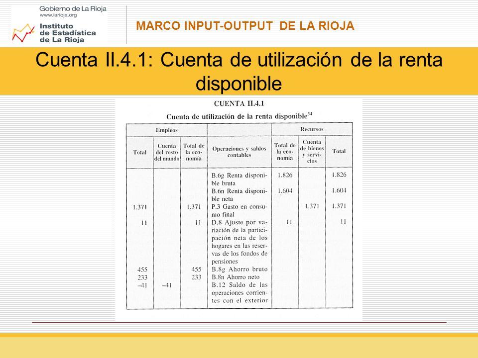 Cuenta II.4.1: Cuenta de utilización de la renta disponible