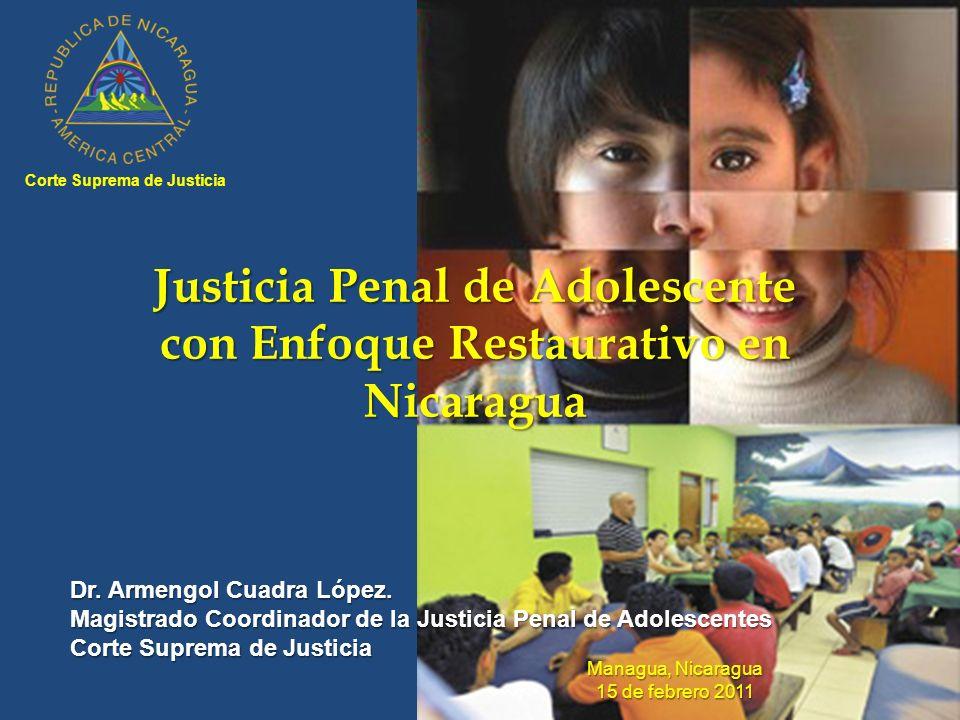 Justicia Penal de Adolescente con Enfoque Restaurativo en Nicaragua