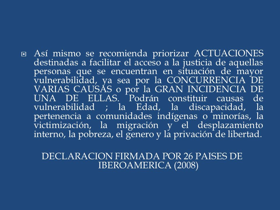 DECLARACION FIRMADA POR 26 PAISES DE IBEROAMERICA (2008)