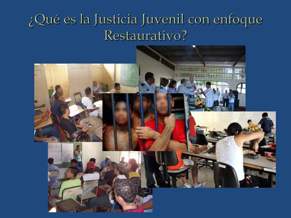 ¿Qué es la Justicia Juvenil con enfoque Restaurativo