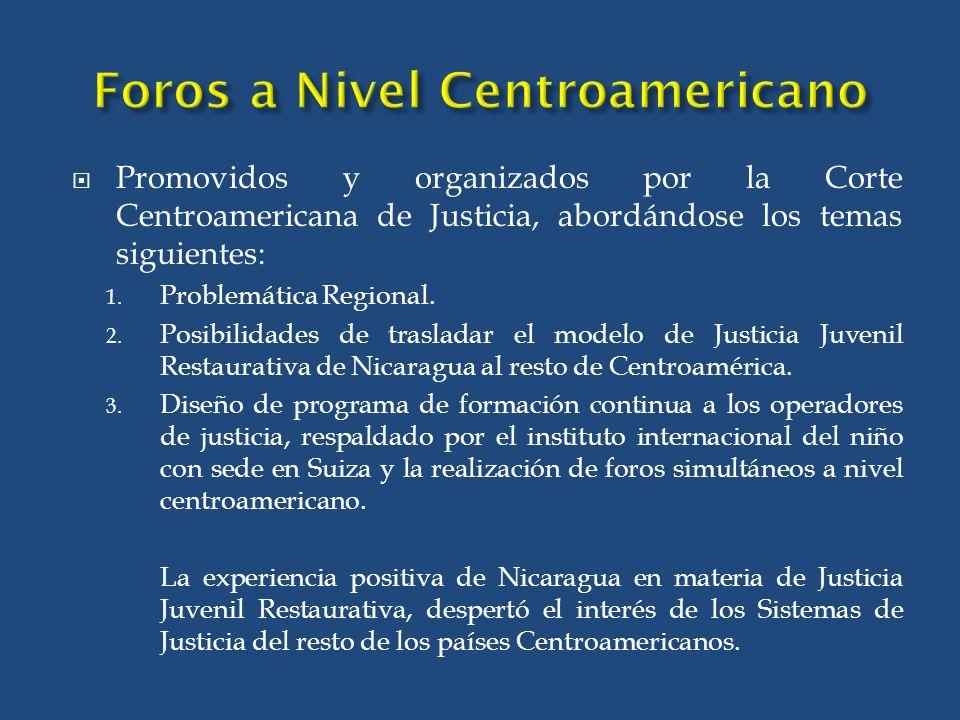 Foros a Nivel Centroamericano
