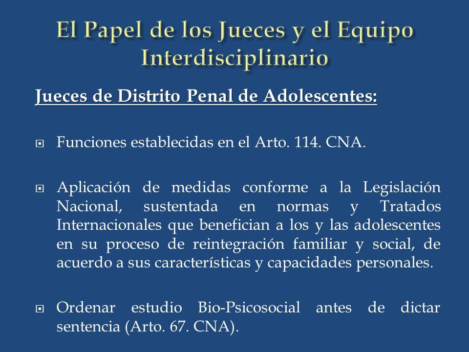 El Papel de los Jueces y el Equipo Interdisciplinario