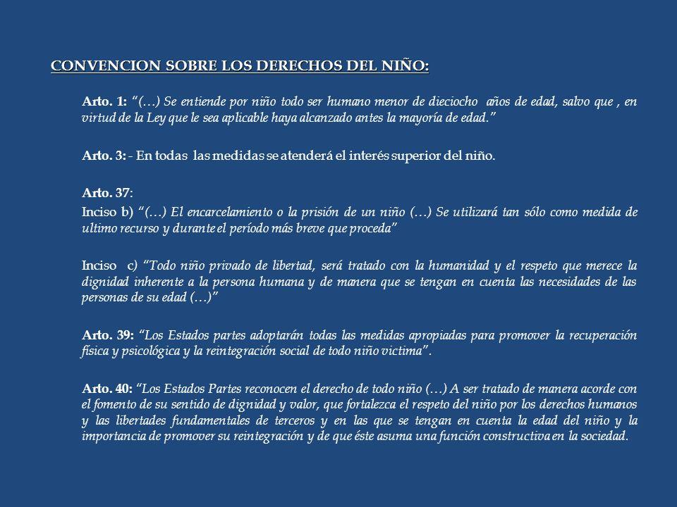 CONVENCION SOBRE LOS DERECHOS DEL NIÑO: