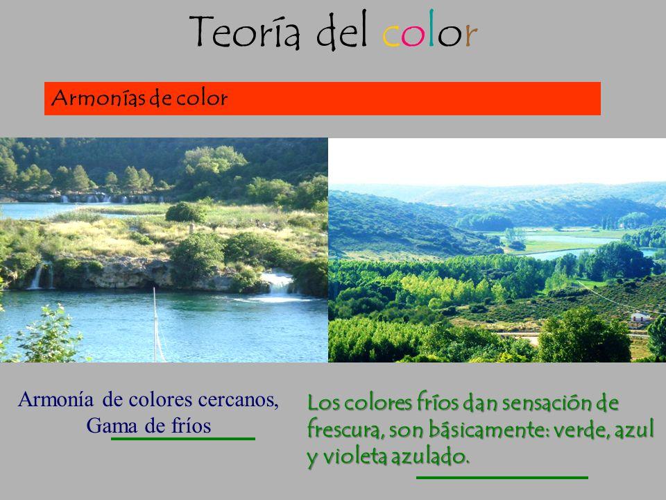 Armonía de colores cercanos,