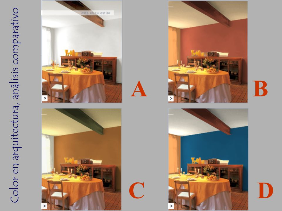 Color en arquitectura, análisis comparativo