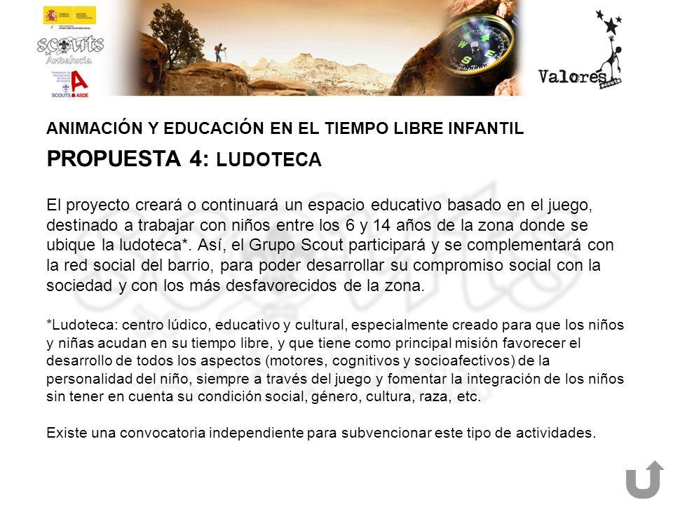 ANIMACIÓN Y EDUCACIÓN EN EL TIEMPO LIBRE INFANTIL