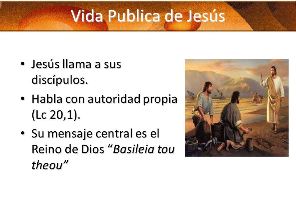 Vida Publica de Jesús Jesús llama a sus discípulos.