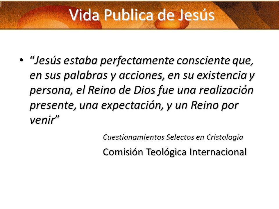 Vida Publica de Jesús