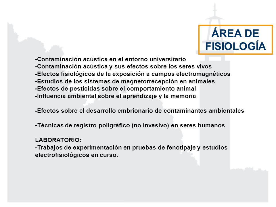 ÁREA DE FISIOLOGÍA -Contaminación acústica en el entorno universitario