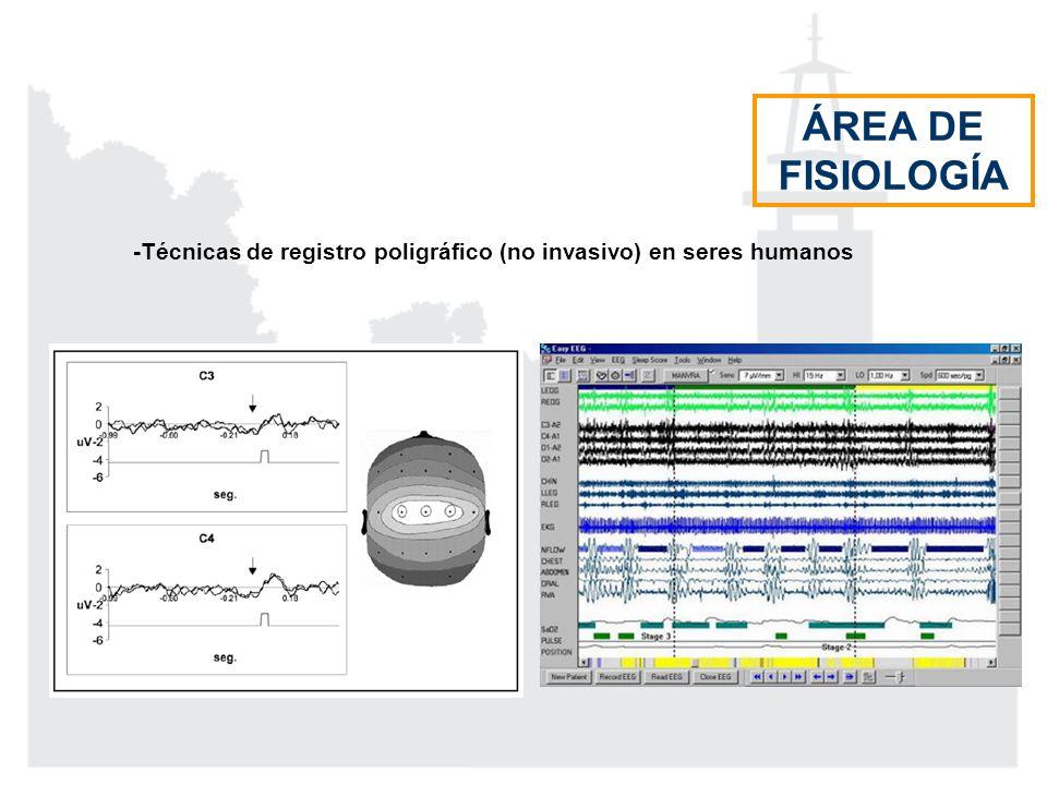 ÁREA DE FISIOLOGÍA -Técnicas de registro poligráfico (no invasivo) en seres humanos