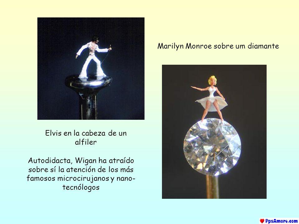 Marilyn Monroe sobre um diamante