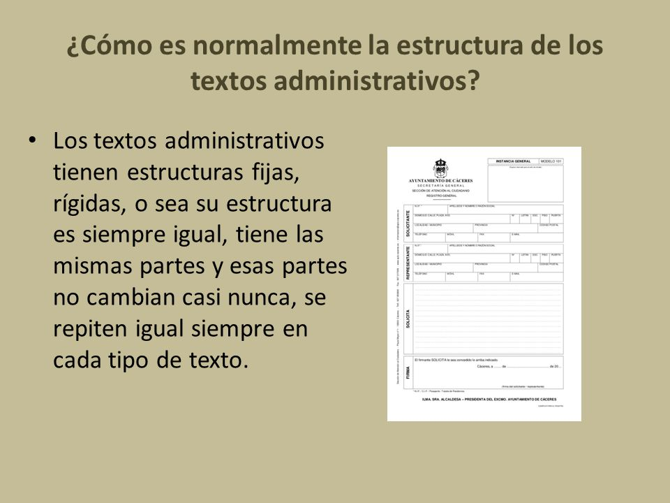 Textos Administrativos Tipos