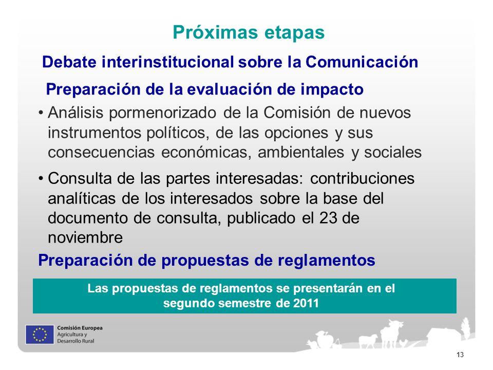 Próximas etapas Debate interinstitucional sobre la Comunicación