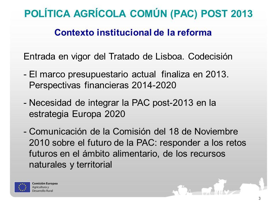 POLÍTICA AGRÍCOLA COMÚN (PAC) POST 2013