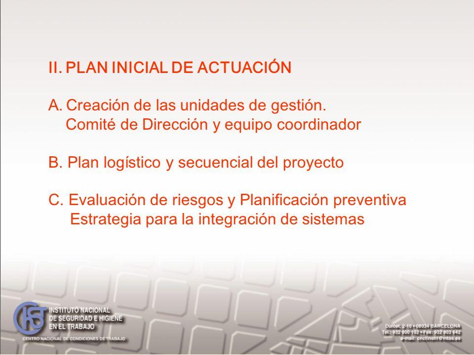 II. PLAN INICIAL DE ACTUACIÓN