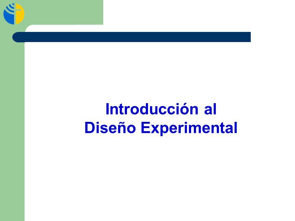 Introducción al Diseño Experimental